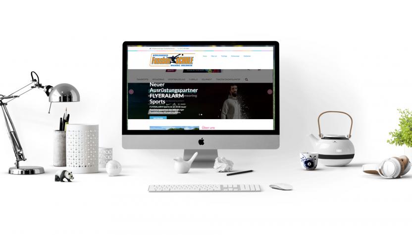 Screenshot für neue Website der Würzburger Fussballschule Michael Hochrein